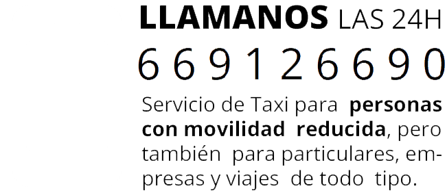 Taxi adaptado Zaragoza